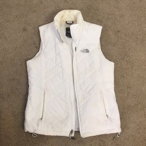 White North Face quilted vest